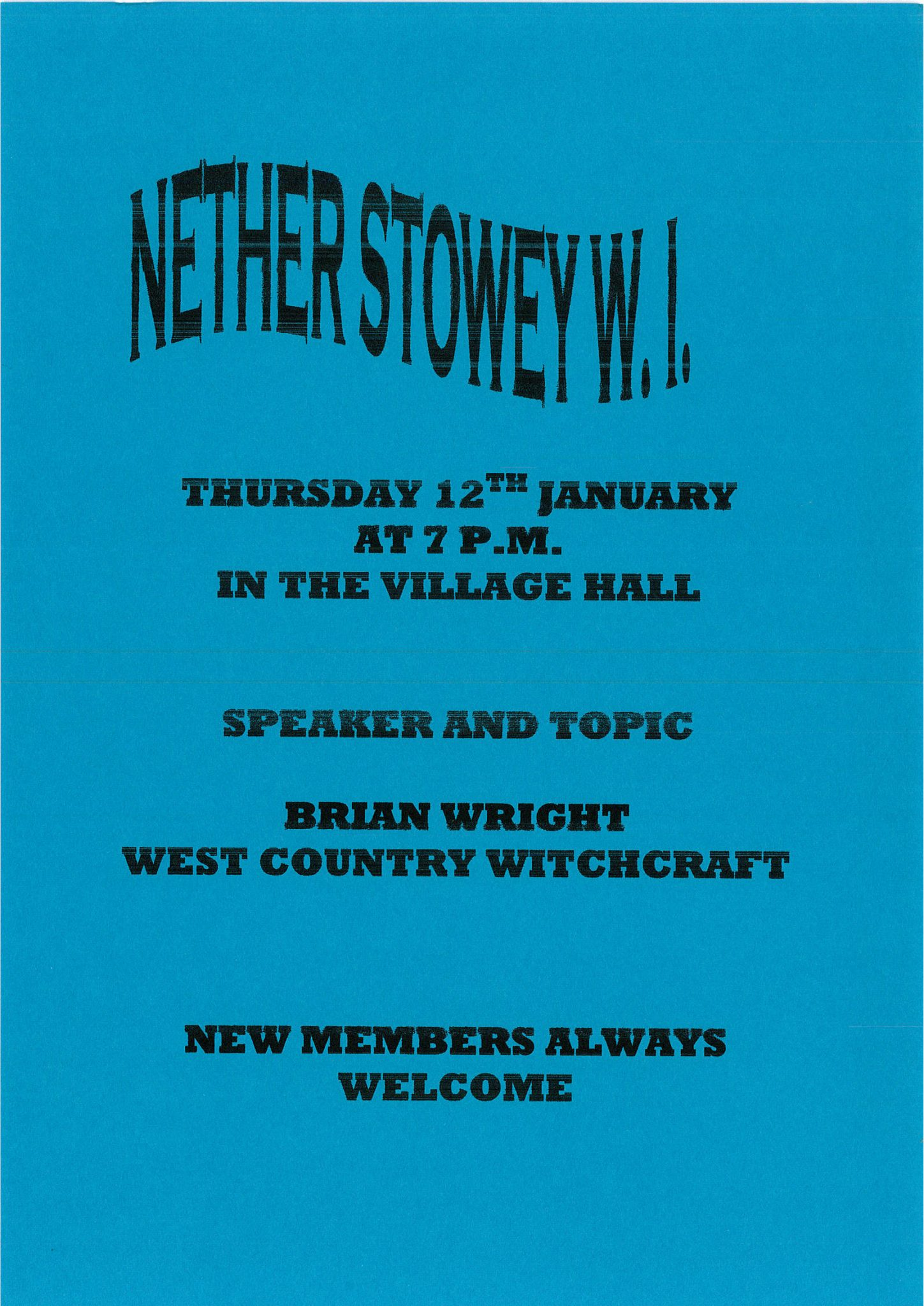 Nether Stowey Womens's Institute @ Nether Stowey Village Hall | Nether Stowey | England | United Kingdom