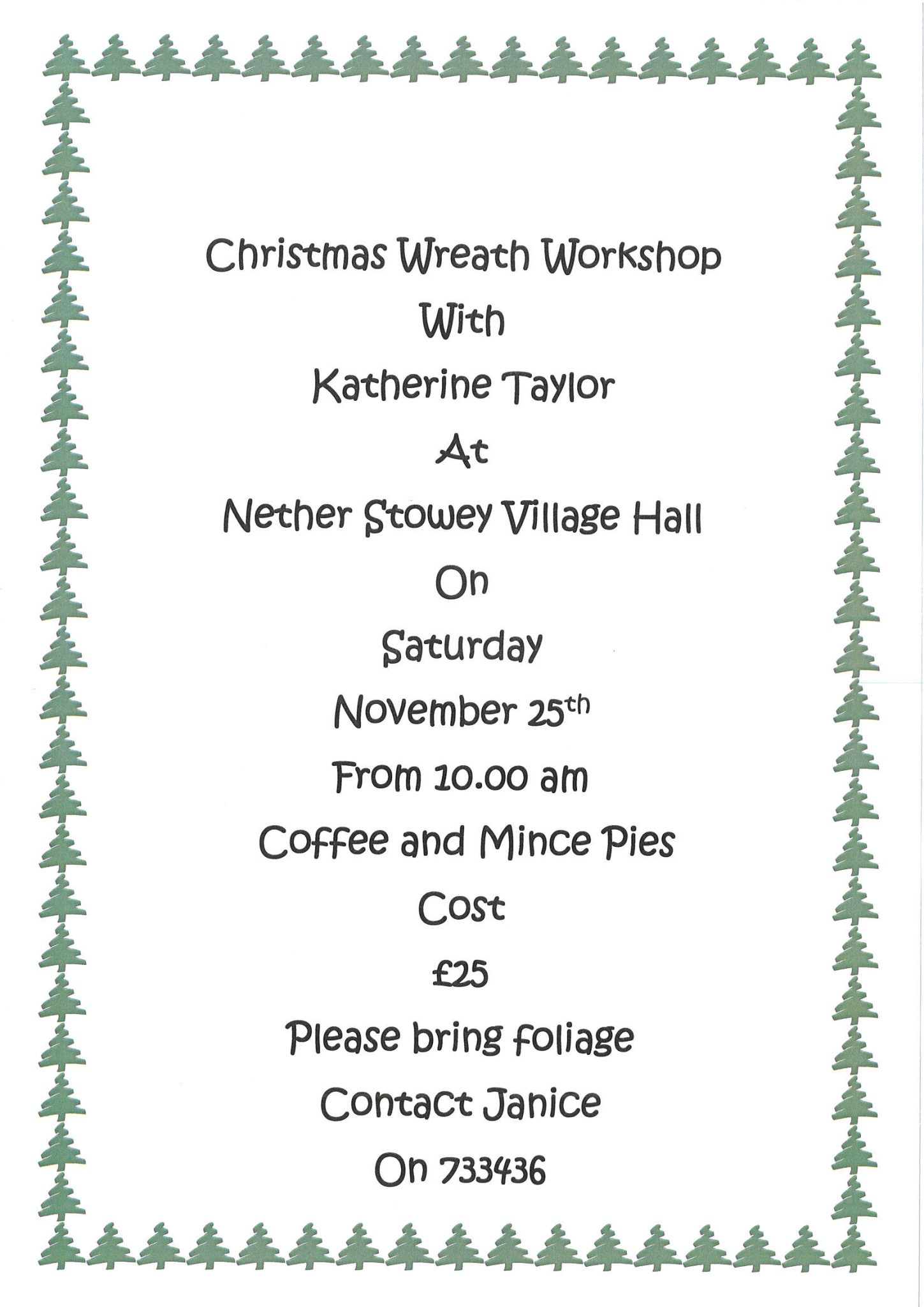 Christmas Wreath Workshop @ Nether Stowey Village Hall | Nether Stowey | England | United Kingdom