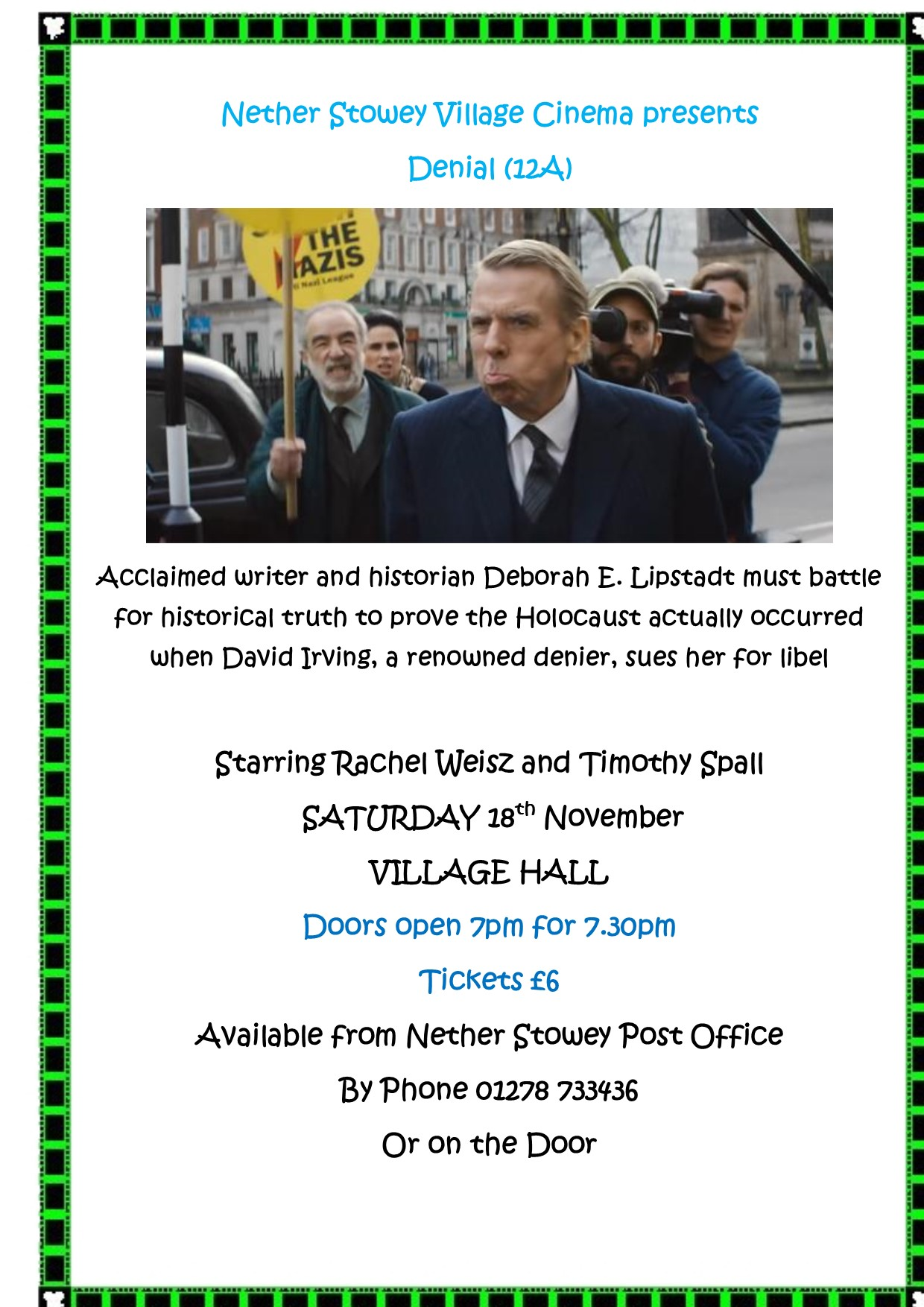 """Denial"" at Nether Stowey Village Cinema @ Nether Stowey Village Hall 