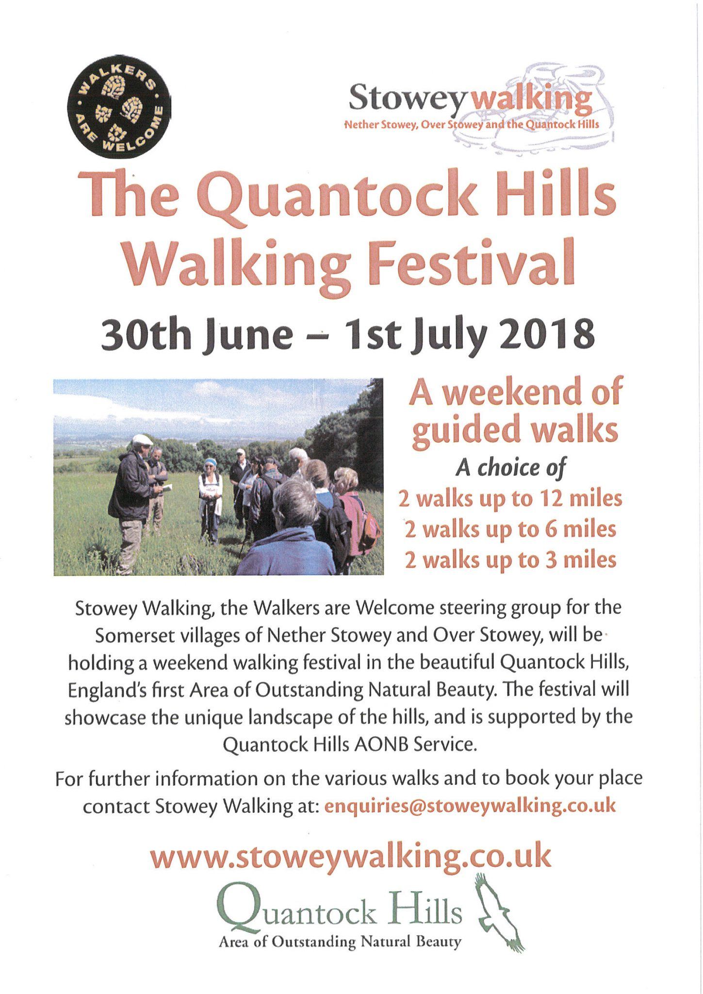 The Quantock Hills Walking Festival @ Various points on the Quantock Hills