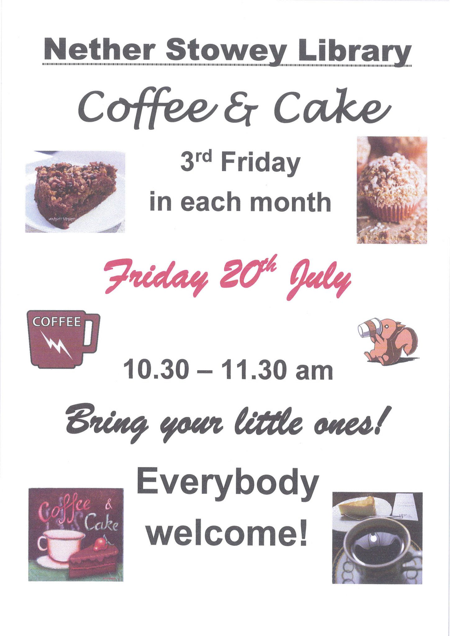 Nether Stowey Library Coffee & Cake Morning @ Nether Stowey Library | Nether Stowey | England | United Kingdom