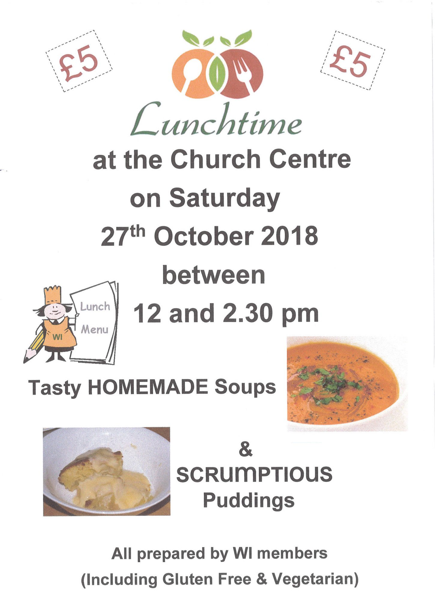 Soup Lunch at the Church Centre Nether Stowey @ St Mary's Church Centre | Nether Stowey | England | United Kingdom