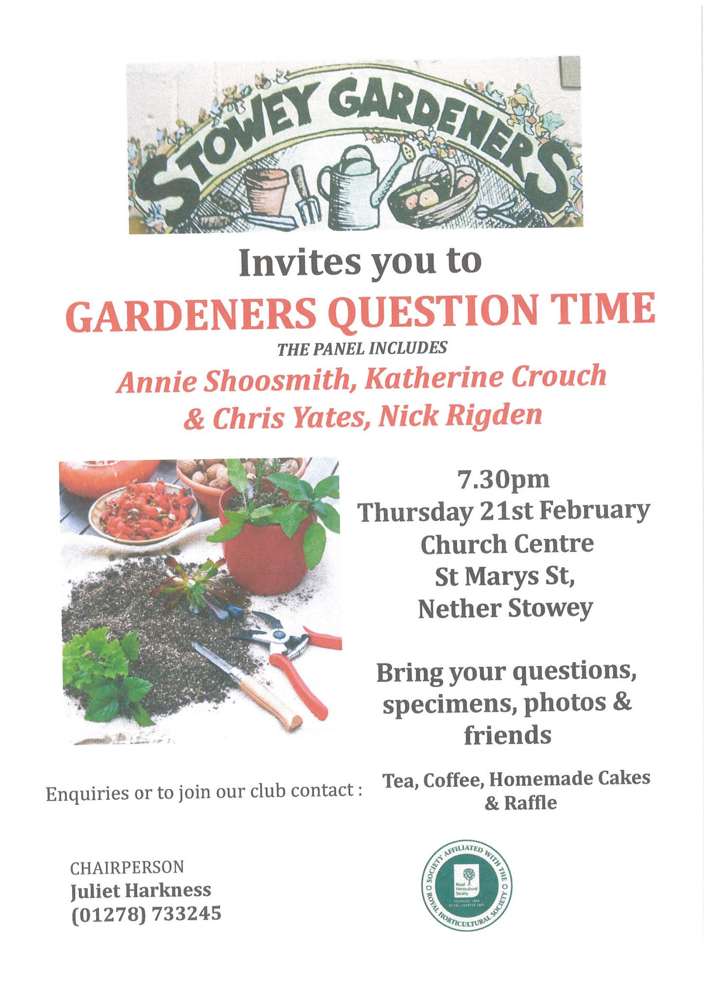 Stowey Gardeners invites you to 'Gardeners Question Time' @ St Mary's Church Centre