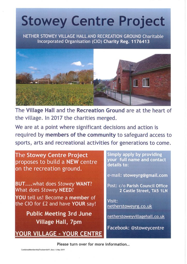 The Stowey Centre Project @ Nether Stowey Village Hall