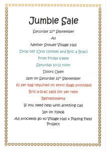 "Nether Stowey Village Hall ""Jumble Sale"" @ Nether Stowey Village Hall"