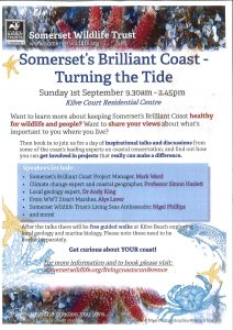 "Somerset Wildlife Trust presents ""Somerset's Brilliant Coast-Turning the Tide"" @ Kilve Court Residential Centre"