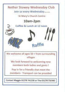 Nether Stowey Wednesday Club @ St Mary's Church Centre