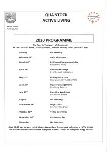 Quantock Active Living 2020 Programme @ St Mary's Church Centre