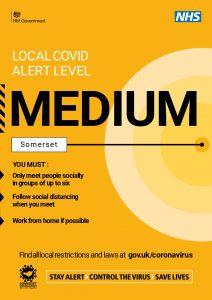 local Covid alert level is Medium