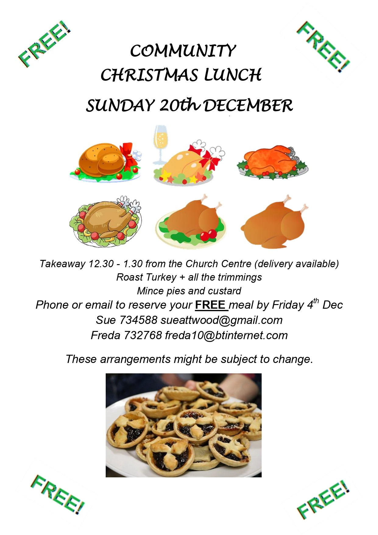 Community Christmas Lunch @ Church Centre